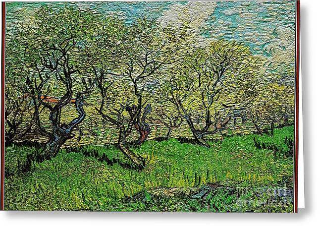 Orchard In Blossom Greeting Card by Pemaro