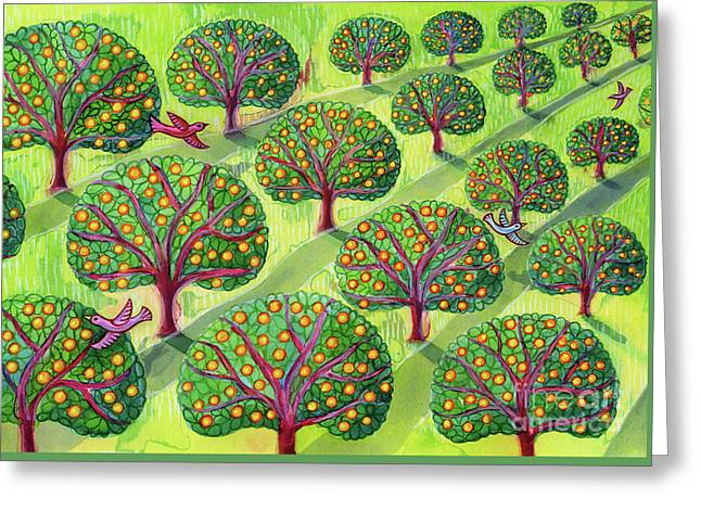 Orchard Greeting Card by Jane Tattersfield