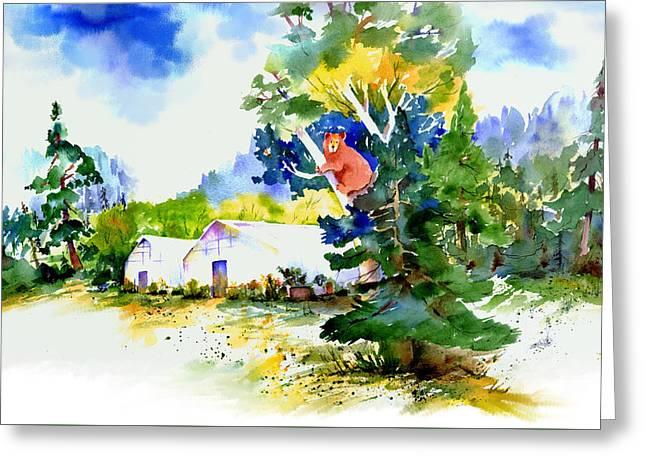 Orchard Springs Bear Greeting Card