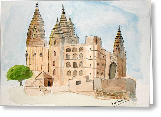 Orchha Temple Greeting Card