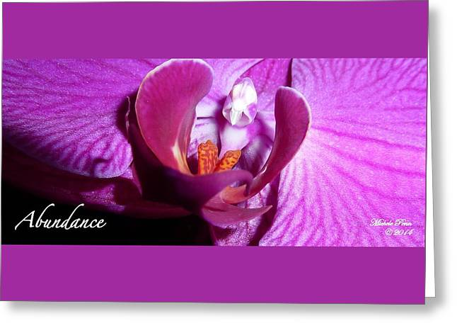 Orchid Abundance Greeting Card
