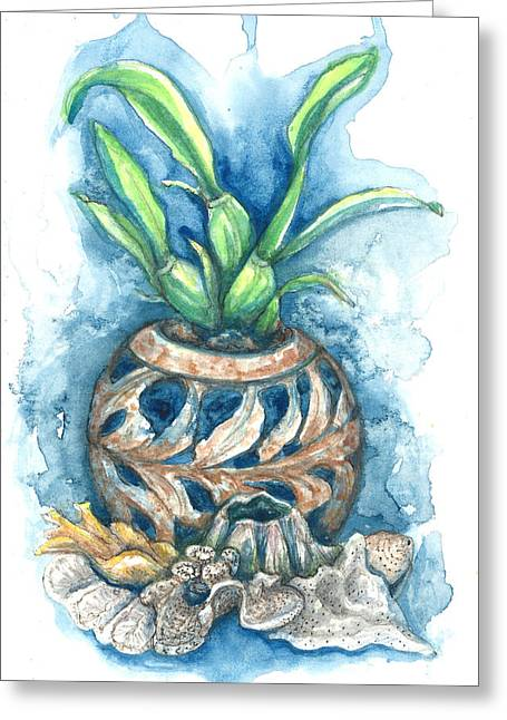 Orchid And Barnacle Greeting Card