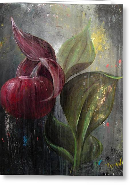 Orchid Bulb Greeting Card by Matt Truiano
