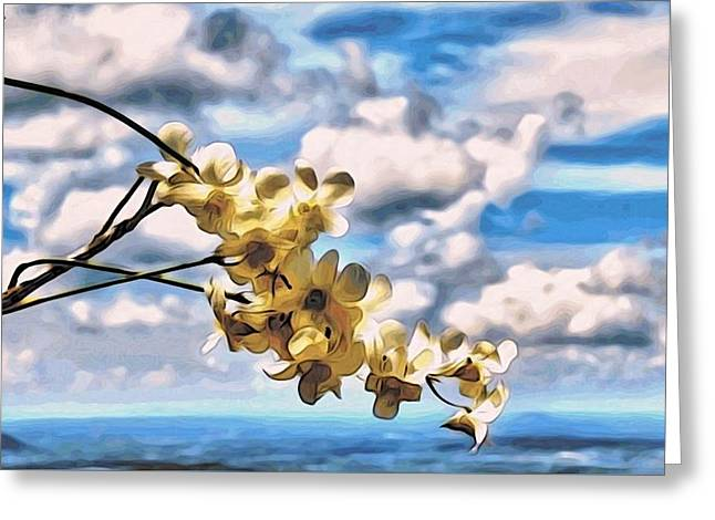Orchid Flowers Greeting Card by Alexandre Ivanov