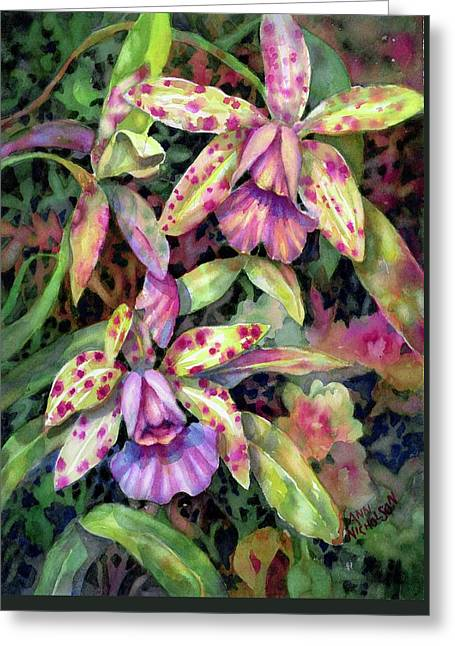 Orchid Garden I Greeting Card
