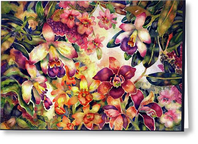 Orchid Garden II Greeting Card