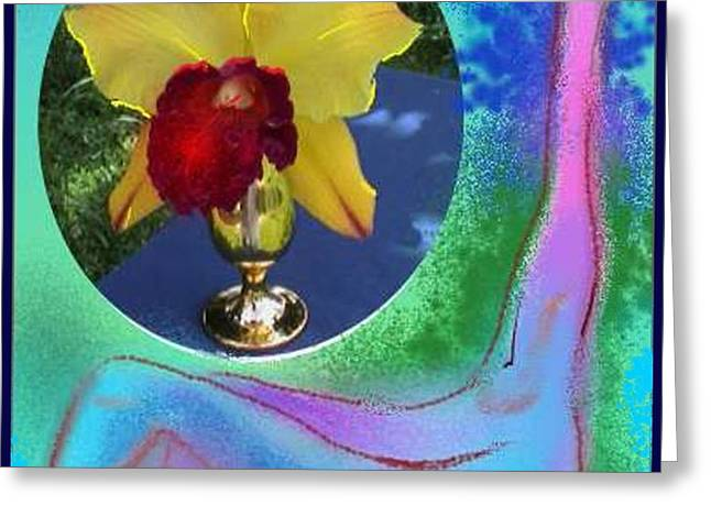 Orchid Keeper Greeting Card by The Art of Alice Terrill