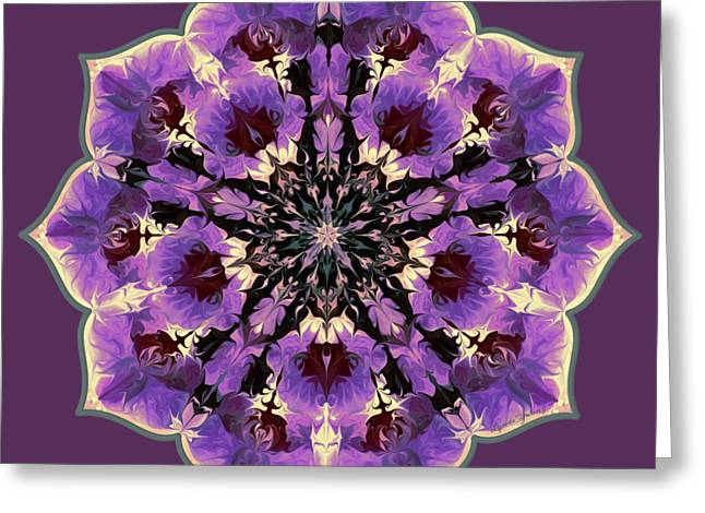 Orchid Lotus Greeting Card