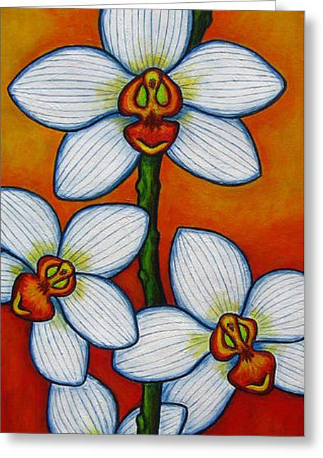 Orchid Oasis Greeting Card by Lisa  Lorenz