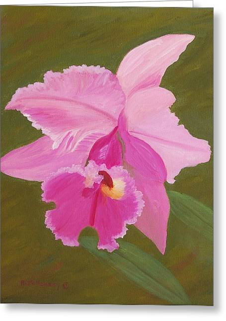 Orchid Greeting Card by Ruth  Housley