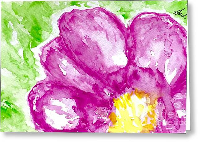 Orchids Abstract  Greeting Card