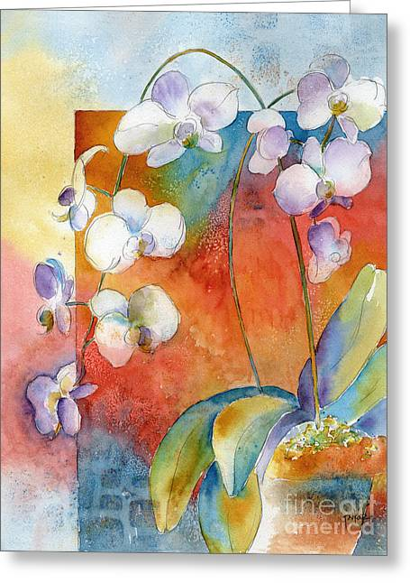 Orchids In Bend Greeting Card