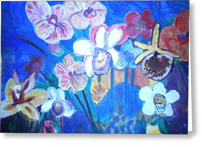 Orchids In My Dream Greeting Card
