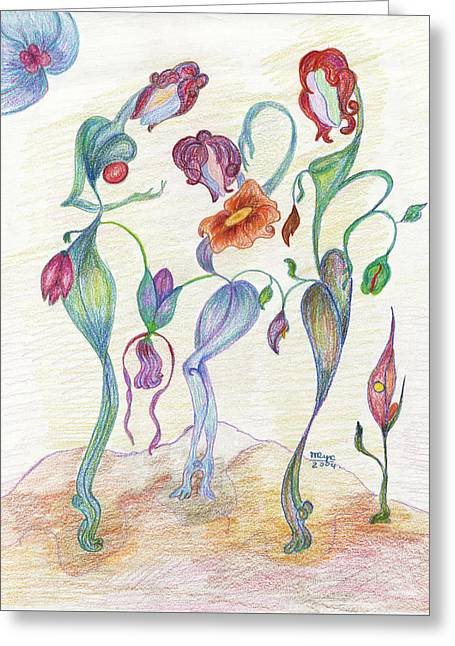 Orchids Greeting Card by Mila Ryk