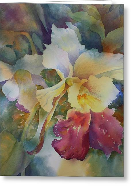 Orchidstrated Greeting Card