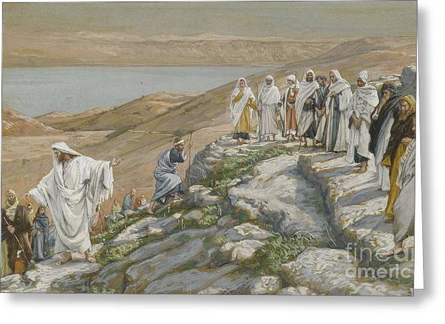 Testament Greeting Cards - Ordaining of the Twelve Apostles Greeting Card by Tissot