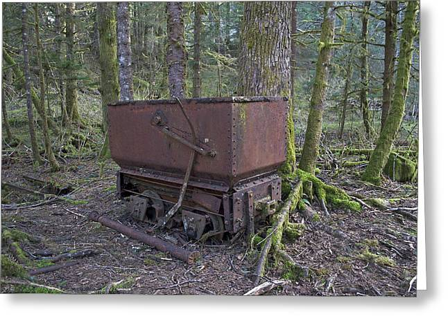 Ore Cart Greeting Card
