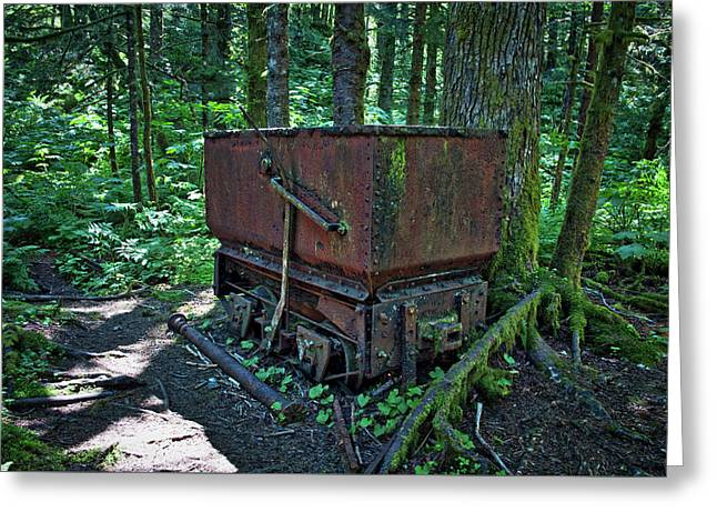 Ore Cart In The Forest Greeting Card