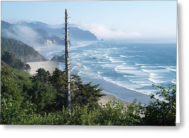 Oregon Beach Greeting Card by James Johnstone