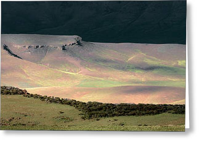 Greeting Card featuring the photograph Oregon Canyon Mountain Layers by Leland D Howard