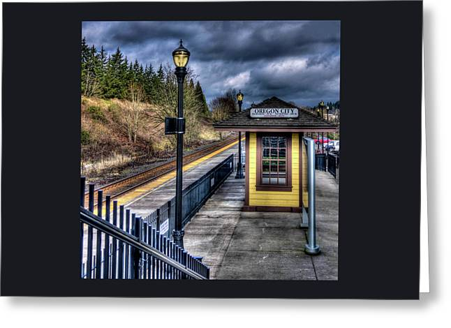 All Aboard In Oregon City Greeting Card