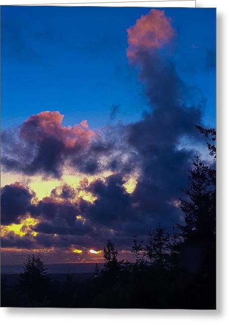 Oregon Coast Clouds Greeting Card