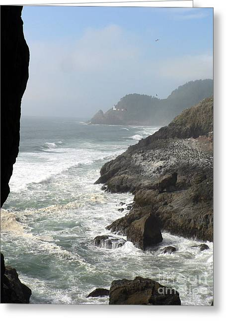 Greeting Card featuring the photograph Oregon Coast by Larry Keahey