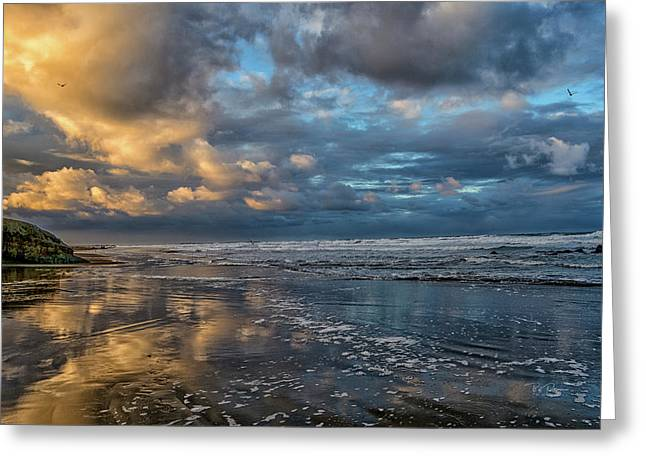 Oregon Coast Reflections Greeting Card