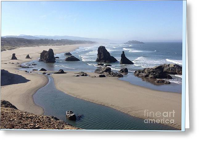 Oregon Coast Sea Stacks Greeting Card