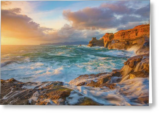 Greeting Card featuring the photograph Oregon Coast Wonder by Darren White