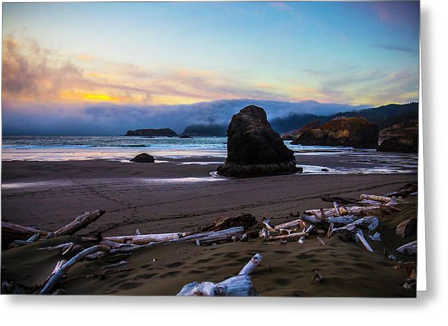 Oregon Costal Landscape Greeting Card by Garry Gay