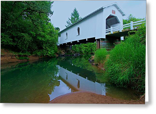 Oregon Covered Bridge Greeting Card