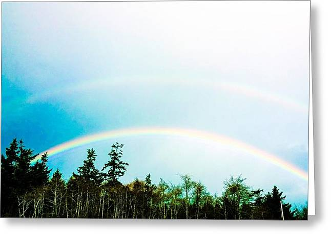Oregon Double Rainbow Greeting Card