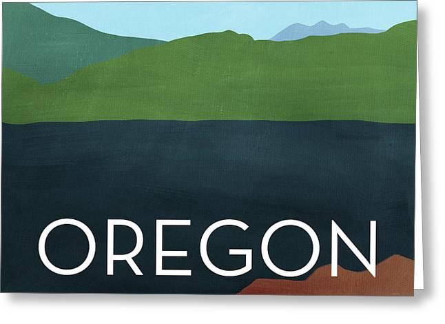 Oregon Landscape- Art By Linda Woods Greeting Card
