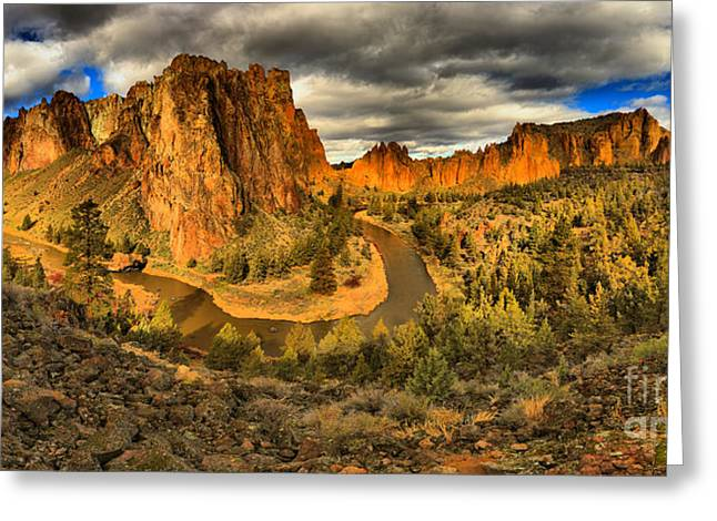Oregon Smith Rock Panorama Greeting Card