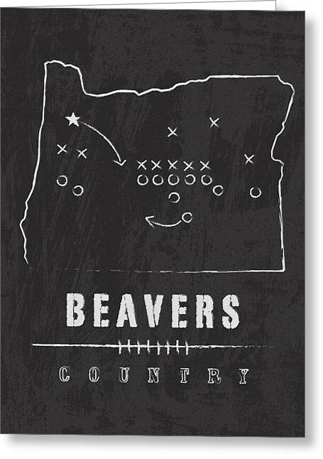 Oregon State Beavers Country Greeting Card