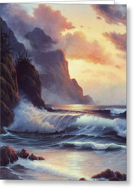 Oregon Sunset Greeting Card by Lynne Parker