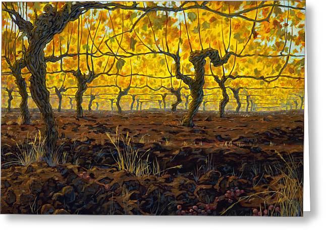 Oregon Vineyard Golden Vines Greeting Card by Michael Orwick