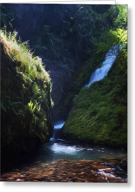 Oregon Waterfall Greeting Card