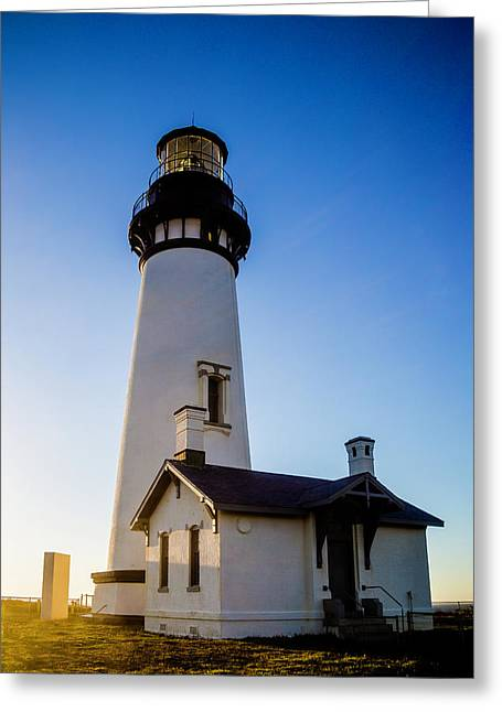 Oregon Yaquina Head Lighthouse Greeting Card by Garry Gay
