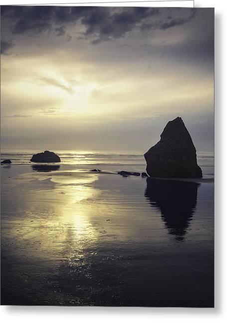 Oregon Zen Greeting Card by Eduard Moldoveanu