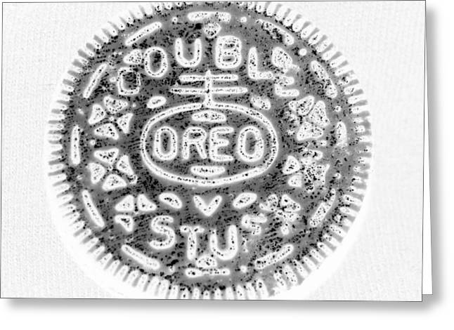 Oreo In Negetive Greeting Card by Rob Hans