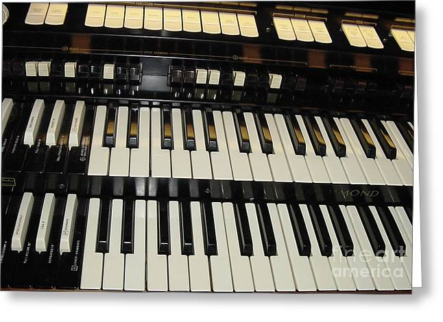 Hammond Organ Keys Greeting Card
