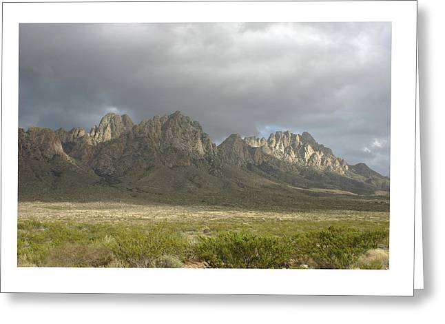 Organ Mountains Dec 25 2015 Greeting Card by Jack Pumphrey