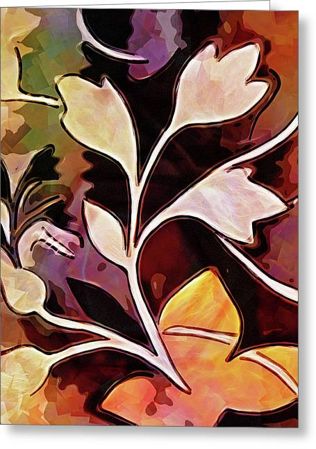 Organic Autumn Greeting Card by Lutz Baar