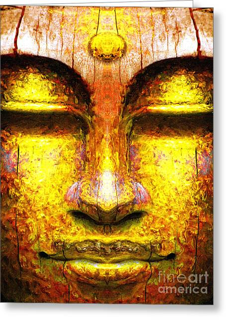 Organic Buddha Greeting Card by Khalil Houri