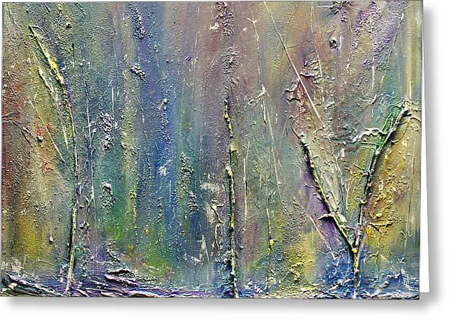 Greeting Card featuring the painting Organic Fantasy Forest by Dolores  Deal