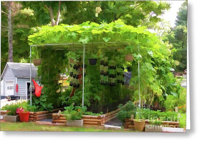 Organic Gardening 1 Greeting Card