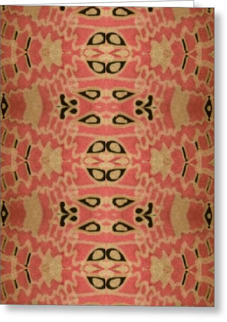 Organic Paisley Greeting Card by Modern Metro Patterns and Textiles