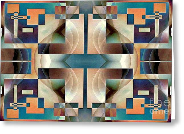 Organic Symetry Greeting Card by Jack Dillhunt